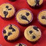 Peachy Banana Blueberry Muffins
